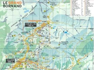 Karten von Le Grand-Bornand