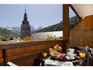 Triple room with balcony and mountain view-with half-board pension for 2 adults and 1 child aged 8 to 12