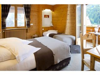 Triple room with south panoramic balcony and mountain view-with half-board pension for 2 pers + 1 child aged 8 to 12